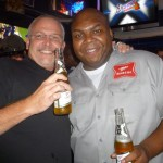 "Max's Foursquare ""mayor"" Mike with Windell. I bet Mikey would rather be drinking a PBR."